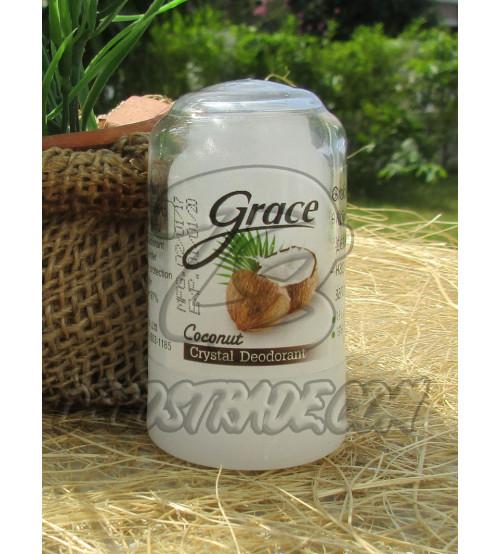 Дезодорант-кристалл «Crace» с кокосом от Novovlife, Crace Deodorant Coconut, 70 гр