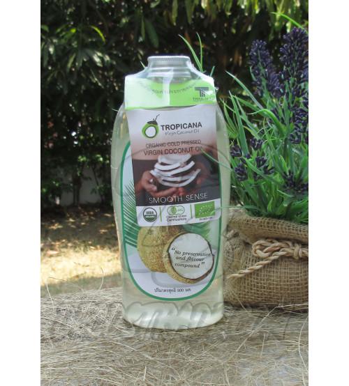 Натуральное 100% кокосовое масло холодного отжима от Tropicana Oil 500 мл, Natural Coconut Oil 100%