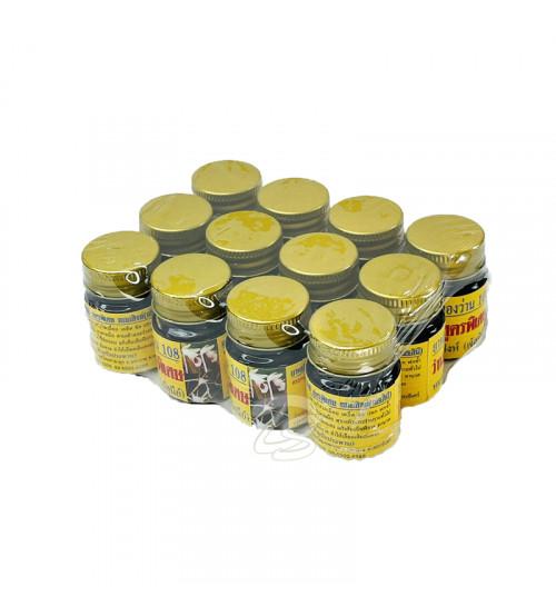 Черный королевский бальзам 108 трав, 108 Herbs Black Balm, 15 гр набор 12 баночек