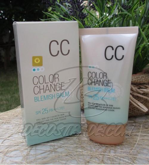 Удивительный корейский СС крем c технологией цветных капсул от Welcos, CC Cream Color Change Blemish Balm, SPF 25 PA++, 50 мл