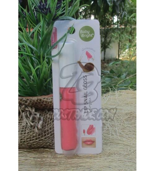 Блеск для губ в оттенке «Розовая осень» с фильтратом улитки от Baby Bright, Lip Snail Gloss #03 Pink Autumn, 10 мл