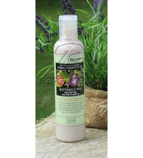 Кондиционер Мотыльковый Горошек (Клитория) и Оливковое масло от Bynature,  Butterfly Pea + Olive oil conditioner, 250 мл