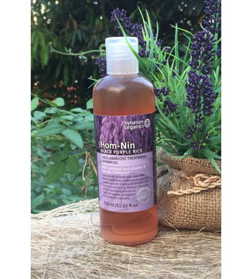 """Лечебный шампунь против выпадения волос """"Пурпурный рис Hom-Nim"""" от Bynature, Black purple rice shampoo, 320 мл"""