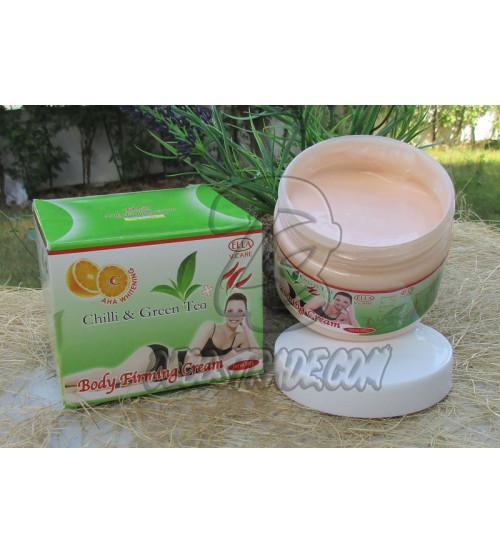 Крем для коррекции фигуры с перцем Чили и Зеленым чаем, ELLA  V.CARE Body Firming Cream Chili $ Green Tea, 300 мл