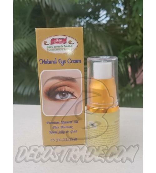 Натуральный омолаживающий  крем для глаз на основе пчелиного маточного молочка от Pumedin, Natural Eye Cream,15 мл