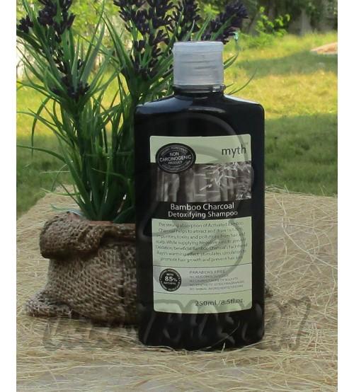 Детокс-шампунь на основе бамбукового угля от Myth Organics, Bamboo Charcoal Detoxifying Shampoo, 250 мл