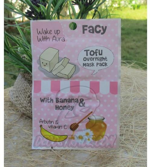 Ночная маска для лица с Тофу, Бананом и Медом от FACY, Tofu Overnight Mask pack with Arbutin Banana Honey Vitamin C, 10 гр