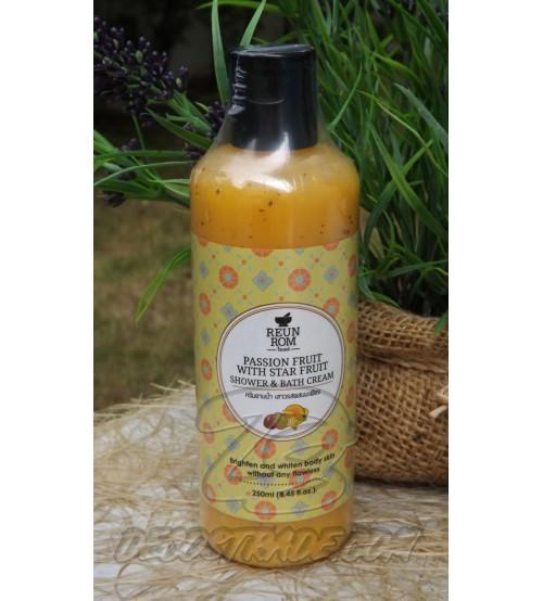 Сливки-гель для ванны и душа с Маракуйей и Карамболой от Reunrom, Passion Fruit With star Fruit Shower & Bath cream, 250 мл