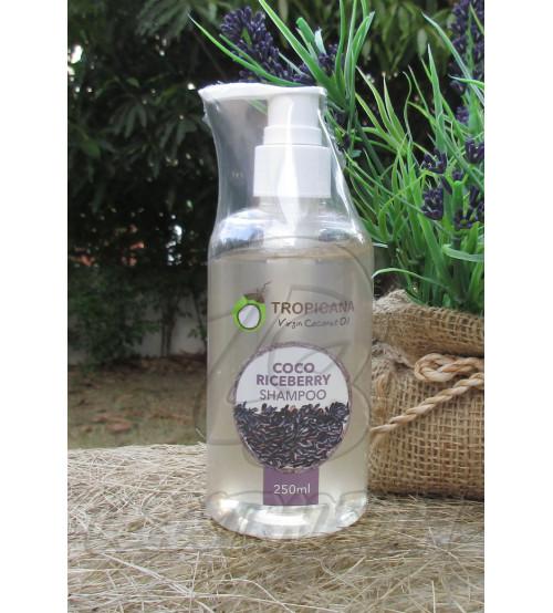 Кокосовый шампунь для сухих и слабых волос «Черный рис» от Tropicana, Coco Riceberry Shampoo, 250 мл