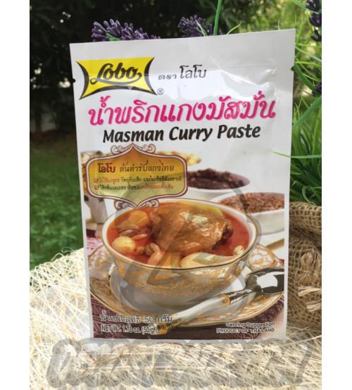 Массаман (ближневосточная) паста карри от Lobo, Masman Curry Paste, 50 гр