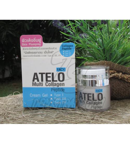 Антивозрастной, увлажняющий крем-гель для лица «Мульти коллаген» от Facy, Cream Gel Facy Atelo Multi Collagen, 30 гр