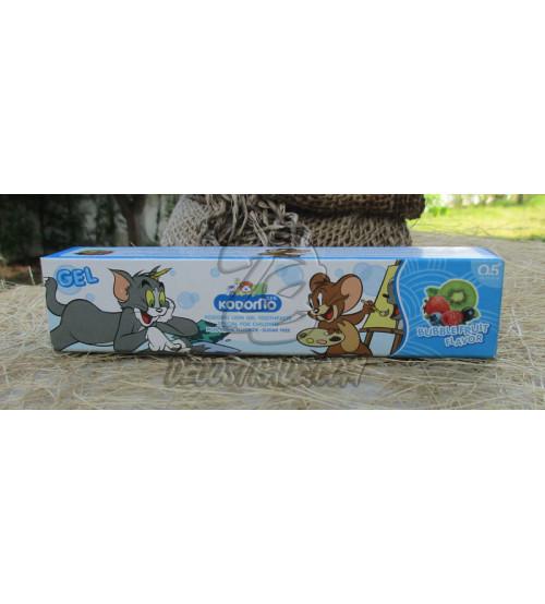 Детская зубная паста «Фруктовая» от Kodomo, Bubble Fruit Flavor Toothpaste For Kids, 40 гр