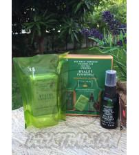 Набор: сыворотка и мыло для лица с Алоэ-вера и гиалуроновой кислотой от Madame Heng, Hyaloe Hydro Power (Soap+Serum), 100 гр и 30 мл