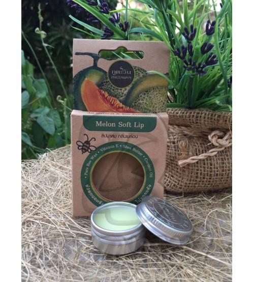 Увлажняющий бальзам для губ «Дыня» от Phutawan, Melon Soft Lip, 8 гр