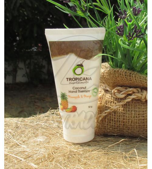 "Кокосовый крем для рук ""Ананас-Манго"" без парабенов от Tropicana Oil, Coconut Hand Cream Pineapple-Mango (non-parabe), 50 гр"