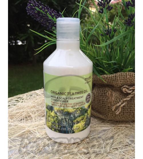 Кондиционер от перхоти на основе масла чайного дерева от Myth, Organic tea tree oil hair & scalp treatment conditioner, 290 мл