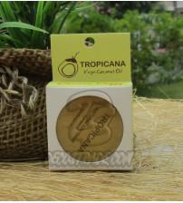 Натуральный кокосовый бальзам для губ «Банан» от Tropicana, Natural Coconut Lip Balm «Banana Happy», 10 гр