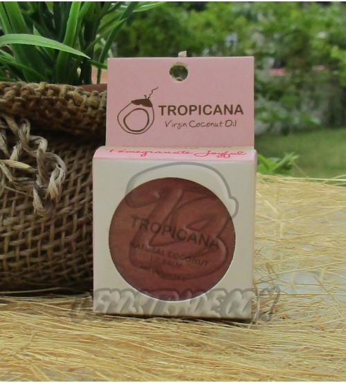 Натуральный кокосовый бальзам для губ «Гранат» от Tropicana, Natural Coconut Lip Balm «Pomerganate Joyful», 10 гр