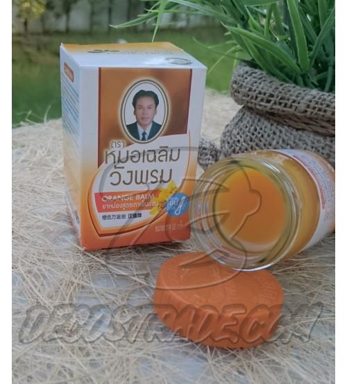Оранжевый (охлаждающий) тайский бальзам от Wangprom Herb, Orange Balm, 50 гр