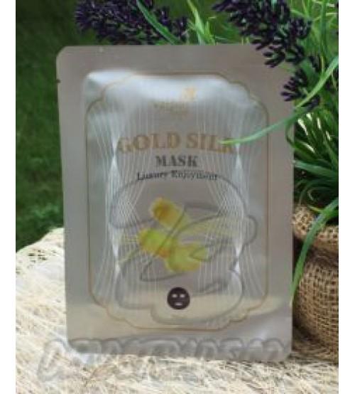 Антивозрастная тканевая маска «Золотой шелк» от Water Angel, Gold Silk Mask, 25 мл