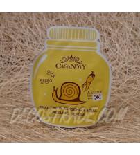 Серум-пилинг для лица на основе улиточной слизи и женьшеня от Casanovy, Snail Plus Ginseng Faсial  Peeling Serum, 10 мл