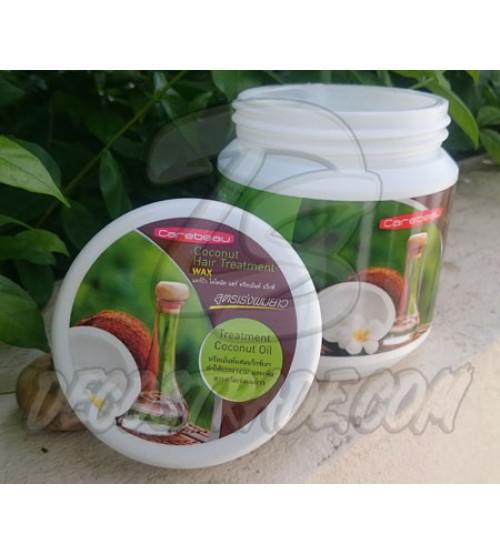 Кокосовая маска для волос, Coconut Hair Treatment Wax, Carebeau, 500 мл
