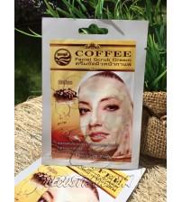 Кофейный крем-скраб для лица от Nual Anong, Herbal Coffee Facial Scrub Cream, 10 гр