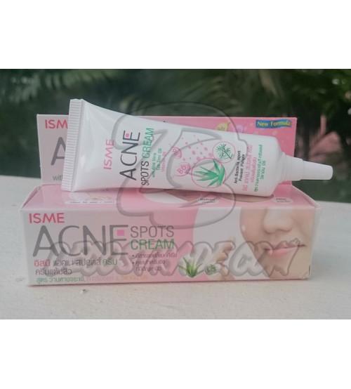 Крем против акне с  Алоэ и Маслом чайного дерева от Isme, Acne spots cream 10 гр
