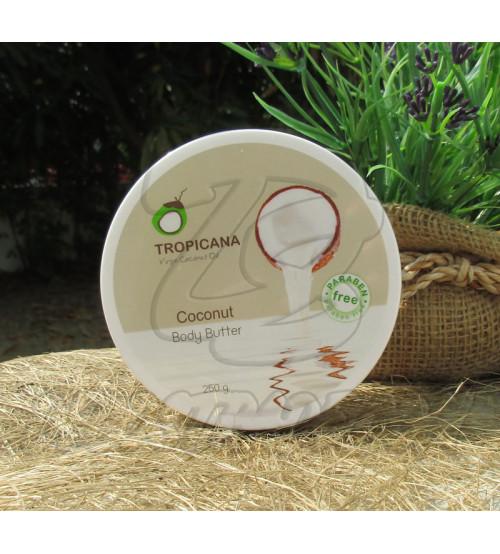 Кокосовый крем для тела без парабенов от  Tropicana Oil, Body Batter Coconut (non-parabe) , 250 гр