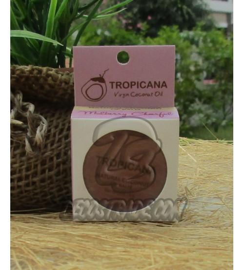 Натуральный кокосовый бальзам для губ «Шелковица» от Tropicana, Natural Coconut Lip Balm «Mulberry Cheerful», 10 гр