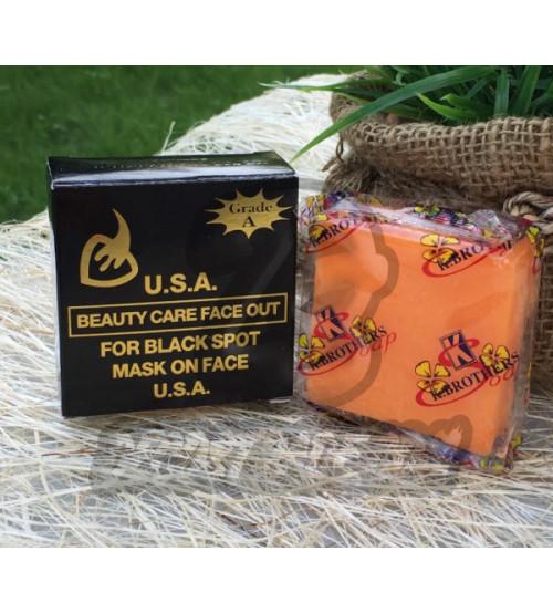 Кокосовое мыло против черных точек и акне от K.Brothers, Beauty care face out for black spot, 50 гр