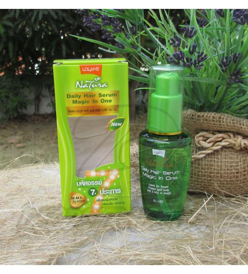 Интенсивная сыворотка для ежедневного ухода за волосами с натуральными маслами от Lolane Natura, Daily Hair Serum Magic In One, 50 мл