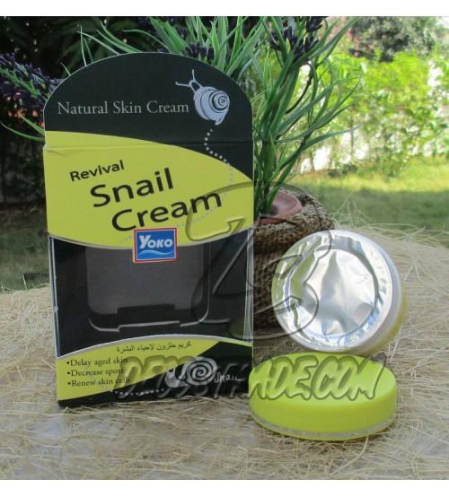 Восстанавливающий крем для лица с фильтратом улитки от YOKO, Revival Snail Cream, 50 гр