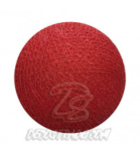 Хлопковый шар для гирлянды, диаметр 6.5 cm 5141
