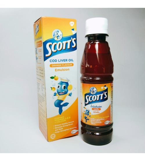 Эмульсия Scott's Emulsion со вкусом апельсина Масло печени трески 200 мл.