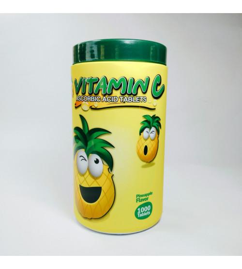 Патар Витамин С Аскорбиновая кислота 1000 таблеток Аромат ананаса