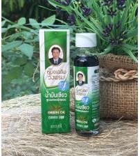 Зеленое масло для уменьшения отечности при рините и укусах насекомых от Wangprom Herb, Green oil, 20 мл