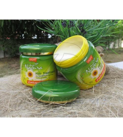 Маска для окрашенных волос с экстрактом семян подсолнечника от Lolane, Mask Hair Treatment for Nourishing & Color care + Sunflower Extracts, 250 гр