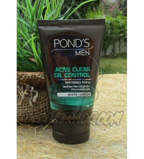 Очищающая пенка для умывания «Очищение от акне и контроль жирности» для мужчин от POND'S men, Whitening foam, Acne clear & Oil Control, 50 гр