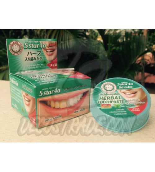 "Отбеливающая зубная паста ""5 звезд"", 5 star, Herbal Toothpaste, 30 гр"