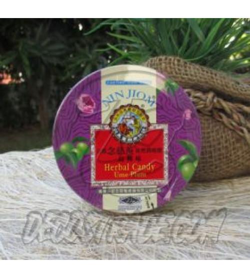 Растительные леденцы для горла «Сливовые» от Nin Jiom, Herbal Candy Ume Plum, 60 гр