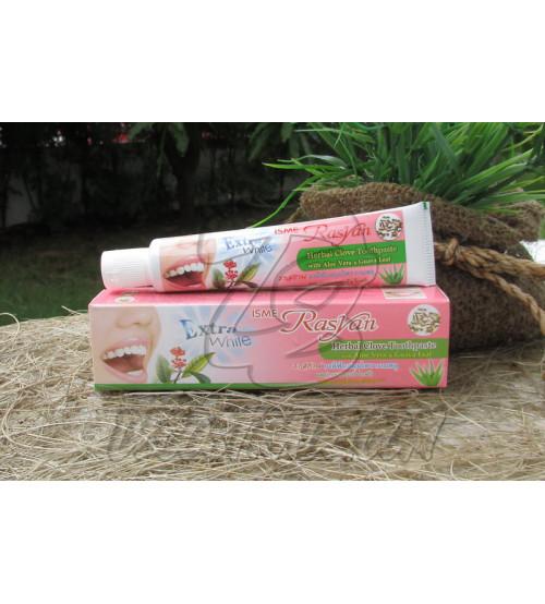Экстра отбеливающая зубная паста «Гвоздика, Алоэ и Гуава» от Isme Rasyan, Herbal Toothpaste Extra White «Clove, Aloe Vera & Guava Leaf», 30 гр