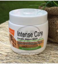 Интенсивная маска с кератином для восстановления волос с химическим выпрямление (Зеленая линия) от Lolane, Intense care keratin repair Mask forhair damaged  dy straightening (green line), 200 гр