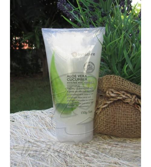 Гель для умывания с экстрактами Алоэ Вера и Огурца от Bynature, Aloe Vera Cucumber Facial Cleansing Gel, 150 гр