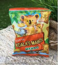 Фигурное печенье с начинкой «Манго» Lotte Koala's march, Mango, 20 гр