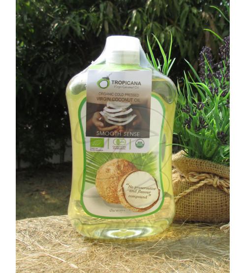 Натуральное 100% кокосовое масло холодного отжима от Tropicana Oil 1000 мл, Natural Coconut Oil 100%