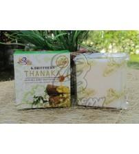 Отбеливающее мыло с Танака, Жасмином и Медом от K.BROTHERS, Thanaka, Jasmine & Honey Whitening Soap, 60 гр