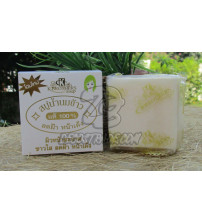 Натуральное кокосовое мыло на рисовом молочке от K.BROTHERS, Pure Milky Jasmine Rie Soap, 60 гр