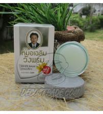 Белый (согревающий) тайский бальзам от Wangprom Herb, White Balm, 50 гр