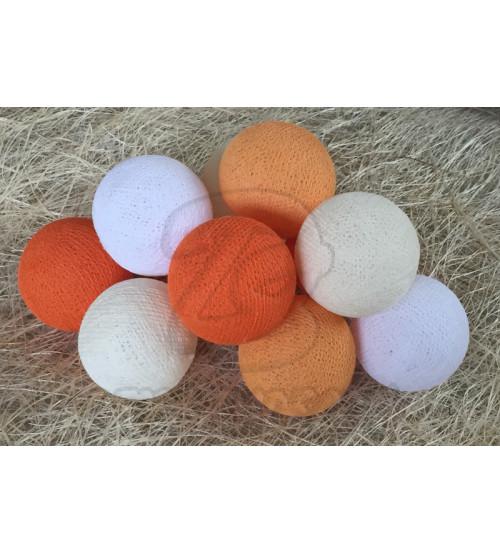 Гирлянда из хлопковых шаров «Апельсин», 20 ламп